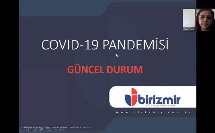 Bu ayki aylık toplantımız Covid-19 pandemisi tedbirleri nedeniyle uzaktan katılım ile 09.05.2020 tarihinde gerçekleşmiştir.
